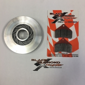SUPER LIGHT CERAMIC BRAKE ROTOR AND BRAKE PADS FOR DIAMOND DRIVE