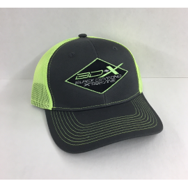 HAT BDX GREY WITH FLORESCENT  TRUCKER HAT ADJUSTABLE