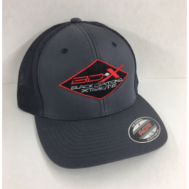 BDX FLEX FIT BLACK with WHITE MESH BACK HAT