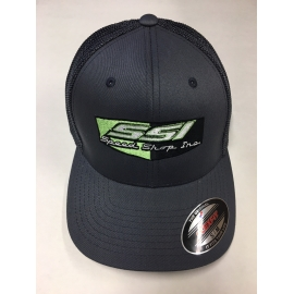 SSI FLORESCENT LOGO FLEX FIT GREY with GREY MESH BACK HAT