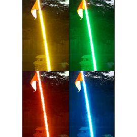 """LED WHIP LIGHTS 24"""" LONG"""