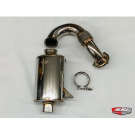 STAINLESS TURBO BACK EXHAUST SYSTEM 900 ACE TURBO